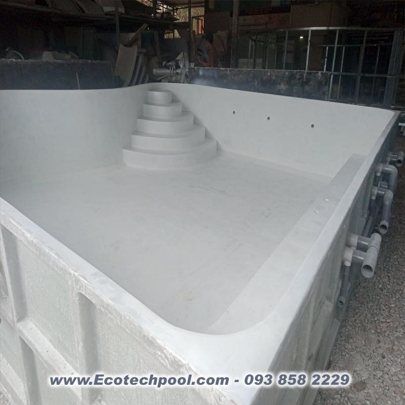 sản xuất hồ bơi composite theo yêu cầu